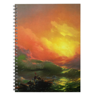 IVAN AIVAZOVSKY - The ninth wave 1850 Spiral Notebook
