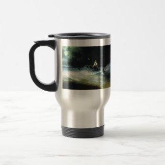 Ivan Aivazovsky- Travel of Poseidon by sea Travel Mug