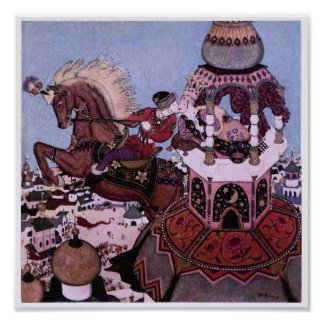 Ivan and the Chestnut Horse Fairy Tale Print