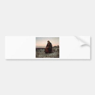 Ivan Kramskoy- Christ in the Wilderness - Fine Art Bumper Sticker