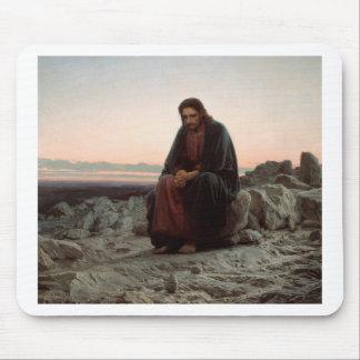 Ivan Kramskoy- Christ in the Wilderness- Fine Art Mouse Pad