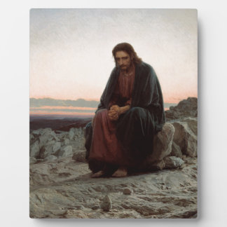 Ivan Kramskoy- Christ in the Wilderness - Fine Art Plaque