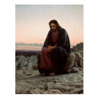 Ivan Kramskoy- Christ in the Wilderness- Fine Art Postcard