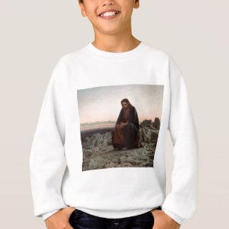 Ivan Kramskoy- Christ in the Wilderness- Fine Art Sweatshirt
