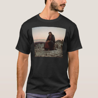 Ivan Kramskoy- Christ in the Wilderness - Fine Art T-Shirt