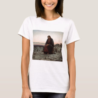 Ivan Kramskoy- Christ in the Wilderness- Fine Art T-Shirt