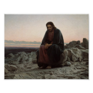 Ivan Kramskoy- Christ in the Wilderness Poster