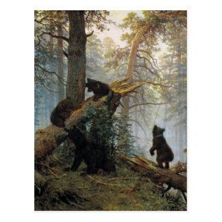 Ivan Shishkin Morning In A Pine Forest Postcard