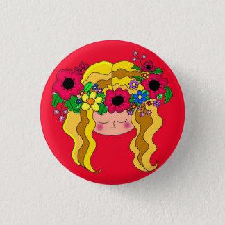 Ivana Kupala Ukrainian Folk Art 1 Inch Round Button
