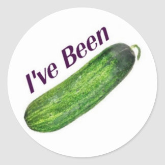 I've Been Cucumber Classic Round Sticker