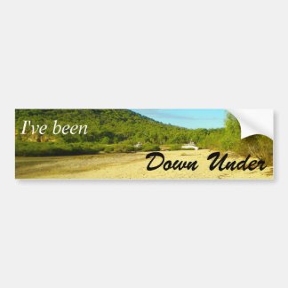 I've been Down Under bumper sticker