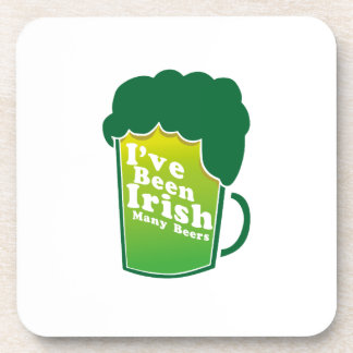 I've Been Irish For Many Beers St. Patrick's Day Coaster
