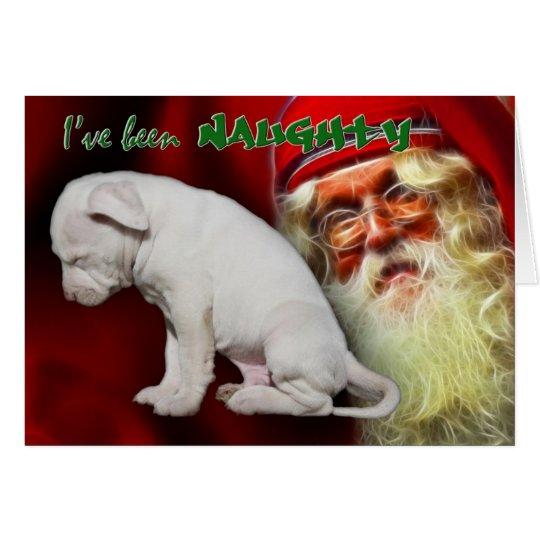 I've been Naughty ... Santa's Naughty & Nice List Card