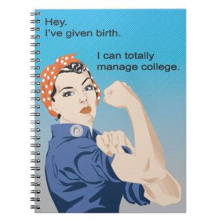 I've given birth... notebooks