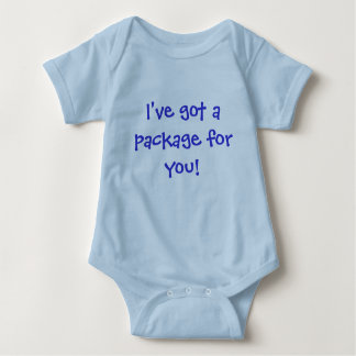 I've got a package for you! baby bodysuit