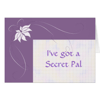 I've got a secret pal greeting card