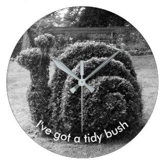I've got a tidy bush. Topiary snail unique design Large Clock
