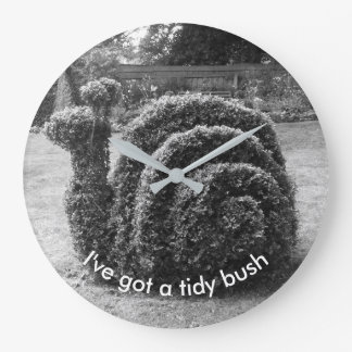 I've got a tidy bush. Topiary snail unique design Wall Clock