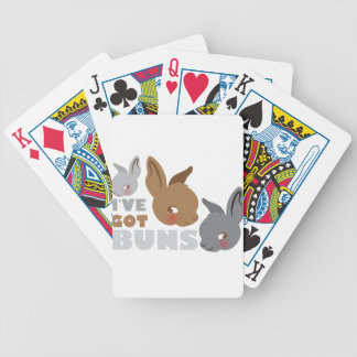 ive got buns (cute bunny rabbits) bicycle playing cards