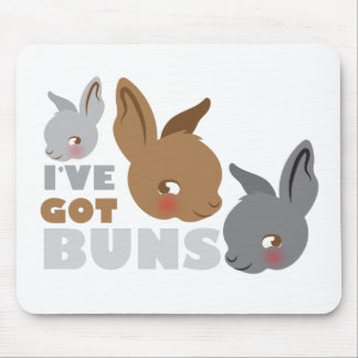 ive got buns (cute bunny rabbits) mouse pad