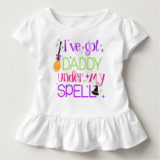 I've Got Daddy Under My Spell Toddler Ruffle Tee