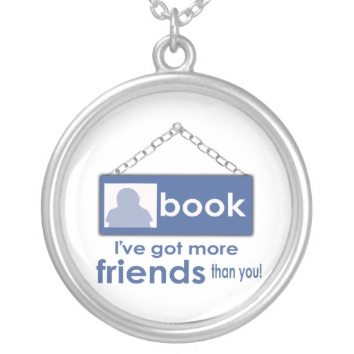 I've Got More Friends Than You F_Book Necklace