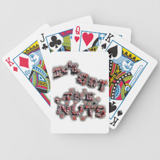 ive got the nuts patch bicycle playing cards