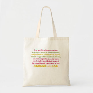 I've got wine from New Zealand … Budget Tote Bag