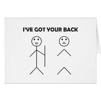I've got your back - Stick figure Card