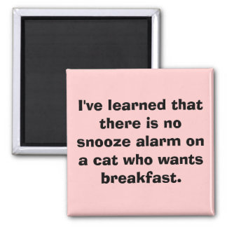 I've learned that there is no snooze alarm on a... magnet