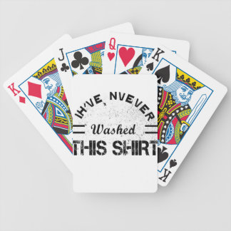 I've never washed this shirt bicycle playing cards