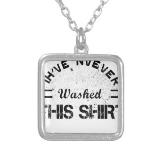 I've never washed this shirt silver plated necklace
