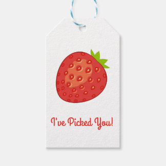 """""""I've Picked You!"""" Strawberry Gift Tags"""