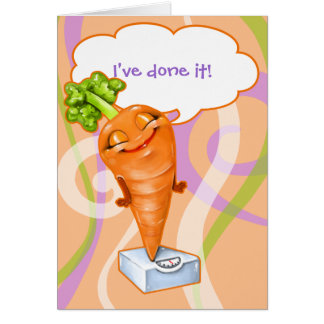 I've reached my weight loss goal!  Happy Carrot Card