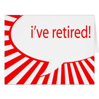 i've retired! (comic bubble) card