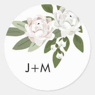 Ivory and Blush Wedding Sprigs Sticker