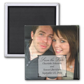 Ivory Art Deco Frame Save the Date Magnet