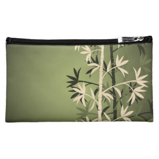 Ivory bamboo green travel accessories bag