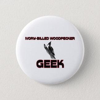 Ivory-Billed Woodpecker Geek 2 Inch Round Button