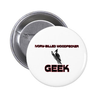 Ivory-Billed Woodpecker Geek 2 Inch Round Button