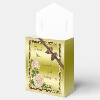 Ivory Blossom, Bows & Diamonds 50th Favor Box