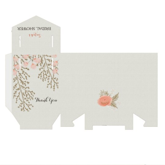 ivory blush gold bridal shower favour box