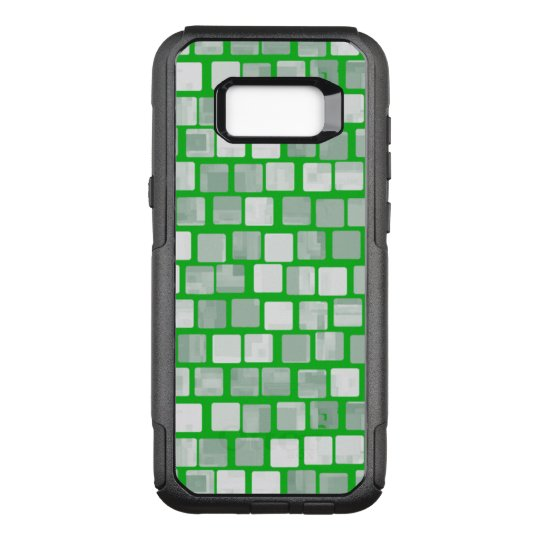 Ivory Bricks with Irish Green Outline Pattern OtterBox Commuter Samsung Galaxy S8+ Case