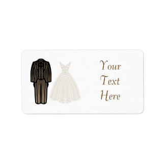 Ivory Bride and Groom Label