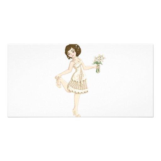 Ivory Bride Customized Photo Card