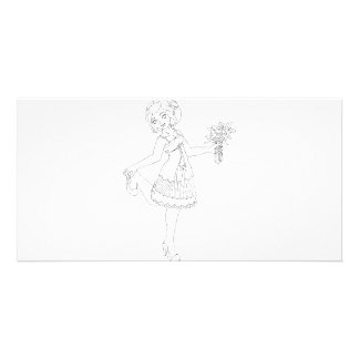 Ivory Bride Photo Card