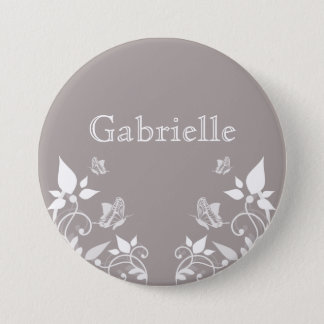 Ivory Butterfly Floral Button