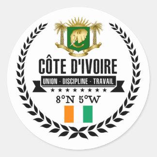 Ivory Coast Classic Round Sticker