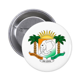 Ivory Coast coat of arms 2 Inch Round Button