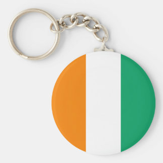 Ivory Coast Flag Basic Round Button Keychain